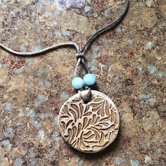 Clay Diffuser Necklace by EarthyRose on Etsy