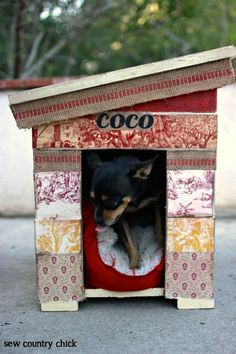 How to decoupage a dog house - make a fancy abode for your furry friend!