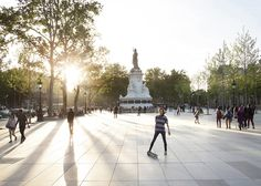 Place de la République becomes Paris' largest pedestrian square. Good shopping.