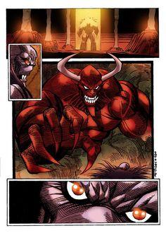 Coloreado digital sobre una pagina del Comic Camulus, dibujada por Ruben Meriggi