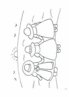 Patrones de las tres niñas de tela.