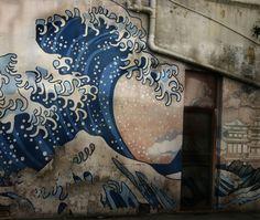 Graffiti the great wave by Hokusai