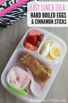 Lunch Ideas for kids – Hard Boiled Eggs with Cinnamon Sticks – Eating on a Dime Needing some fast Lunch Ideas for kids? Kids love this Hard Boiled Eggs with Cinnamon Sticks lunch idea. It even makes a great after school snack. Kids Lunch For School, Healthy School Lunches, School Snacks, Lunch Ideas For Kids, Healthy Snacks, Non Sandwich Lunches, Lunch Snacks, Clean Eating Snacks, Kid Snacks