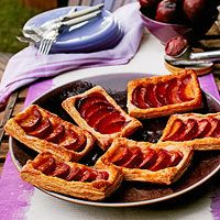 Individual Plum Tarts | http://www.rachaelraymag.com/recipe/individual-plum-tarts/