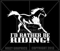 Funny Cute Family Vinyl Car Truck Window Sticker Decal Equestrian Horse Rather B | eBay - $5