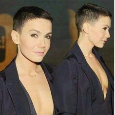 What do you think of her look? What do you think of her look? Edgy Short Hair, Really Short Hair, Short Pixie, Short Hair Cuts, Short Hair Styles, Girls Short Haircuts, Short Hairstyles For Women, Sassy Hair, Shaved Head