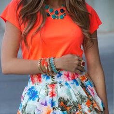 Flowery and bright ~ my kinda' outfit.