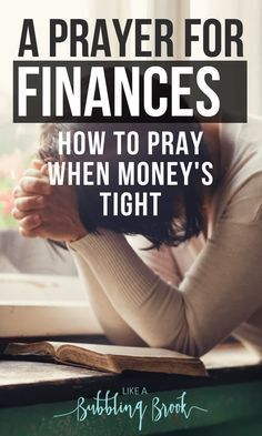 Struggling with knowing how to pray in this hard season? Here's a prayer for finances that you can use when money's tight and you feel overwhelmed. Don't just rely on how to budget, save money, or make money -- take it to the Lord in prayer! You can use this in your War Room, too!