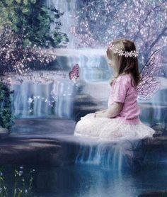 waterfall+and+girl+fairy