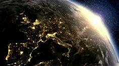 Morning and Night Satellite of Earth | using satellite imagery (NASA). Planet earth Europe zone with night ...