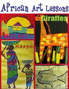 AMAZING African art lessons, great art lesson planning website x African Art For Kids, African Art Projects, African Crafts, Africa Nature, Afrique Art, 3rd Grade Art, Ecole Art, E Mc2, Thinking Day