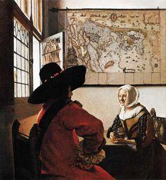 Jan Vermeer van Delft - Soldat und lachendes Mädchen