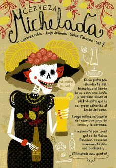 Need this illustration! Mexican Shrimp Cocktail, Mexican Drinks, Mexican Food Recipes, Cocktail Drinks, Fun Drinks, Alcoholic Drinks, Beverages, Hip Hip, Chilean Recipes