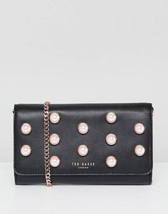 Ted Baker Pearl Stud Matinee with Chain Strap