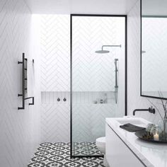 small-bathroom-ensuites Designing a beautiful small ensuite bathroom can be a real challenge with such limited space. Discover our favourite ideas for a smaller ensuite! Ensuite Bathrooms, Bathroom Renovations, Small Bathrooms, Bathroom Vanities, Modern Bathrooms, Remodel Bathroom, Narrow Bathroom, Luxury Bathrooms, Shower Remodel