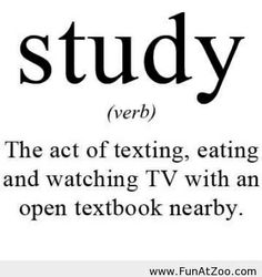 Funny Definition of study