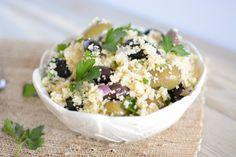 Mediterranean Olive Couscous Salad #salad #recipe
