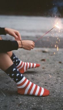 Get patriotic with these super cute American Flag socks.These Stars and Stripes socks are perfect for this summer's activities! Into The Fire, Old Glory, American Pride, American Flag Socks, American Girl, American Idiot, American Wedding, Looks Cool, Sparklers
