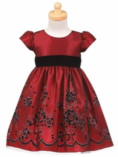 c325d618771 I just bought Lito Red Floral Flocked Tulle Christmas Dress Baby Toddler  Girls from Sophias Style.