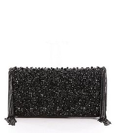 Mary Frances Sway Beaded Chain-Fringe Clutch