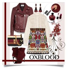 """oxblood, sweat and tears ;-)"" by collagette ❤ liked on Polyvore featuring Acne Studios, Burberry, Anna Sui, Christian Dior, Valentino, Marni and oxblood"