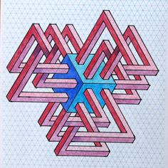 ImpossibleImpossible on Behance. Isometric Shapes, Isometric Drawing, Escher Art, Steam Art, Graph Paper Art, Sacred Geometry Art, Typography Poster Design, Math Art, Desenho Tattoo