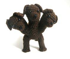 Cerberus or Fluffy the Three Headed Dog Crochet Pattern