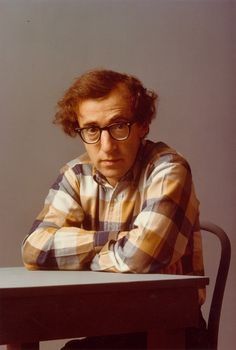 Original photograph of Woody Allen. Undated. (via Milton Glaser Design Study Center And Archives: Images from the Henry Wolf Collection)