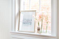 Framebridge Newport Frame. Florals by Taffy Floral.