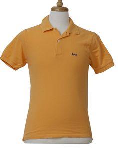 707adb4303 1980 s LeTigre Mens Totally 80s Polo Shirt