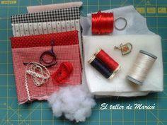 El taller de Maricú: Tutorial llavero Sue Applique Patterns, Sewing Patterns Free, Free Pattern, Japanese Patchwork, Sock Dolls, Key Covers, Aprons Vintage, Craft Tutorials, Craft Fairs