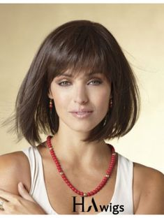 What do you think about this wig? $5 Coupon Code: KIMWIGS5 Medium Bob Hairstyles, Short Black Hairstyles, Wig Hairstyles, Straight Hairstyles, Casual Hairstyles, Ladies Hairstyles, Hairstyles 2016, Short Haircuts, Short Curly Wigs
