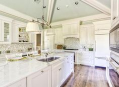 white kitchen   Indian River Design Concepts