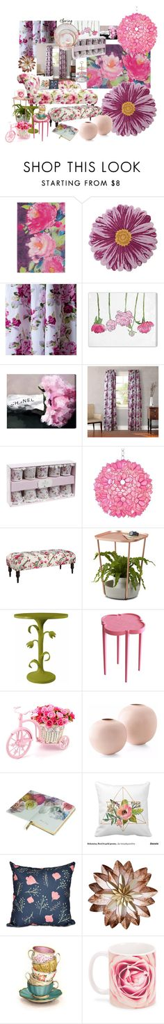 """""""Spring florals"""" by marionmeyer ❤ liked on Polyvore featuring interior, interiors, interior design, home, home decor, interior decorating, Bluebellgray, Nourison, Laura Ashley and Oliver Gal Artist Co."""