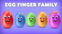 The Finger Family Egg Family Nursery Rhyme | Egg Finger Family Songs | N...