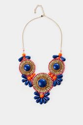 Essential Blooms Statement Necklace in Blue