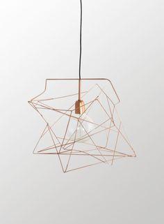 Copper Wire Pendant Light - Trouva