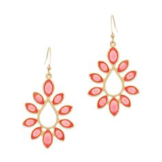 Spring items on YiuIt, including these pretty coral teardrop earrings! #styleoftheday #fashion #spring