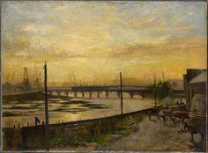 Frederick McCUBBIN: Falls Bridge, Melbourne, 1882
