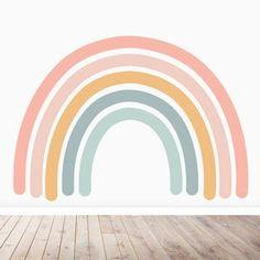 Rainbow Bedroom, Rainbow Room Kids, Old Wallpaper, Rainbow Wallpaper, Big Girl Rooms, My New Room, Wall Murals, Playroom Mural, Kids Room