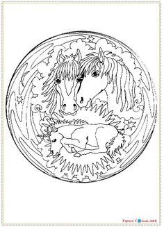 Animal mandalas - Mandala Coloring Pages Mandala Printable, Mandala Coloring Pages, Color Patterns, Personalized Items, Animals, Horses, Mandalas, Animales, Animaux