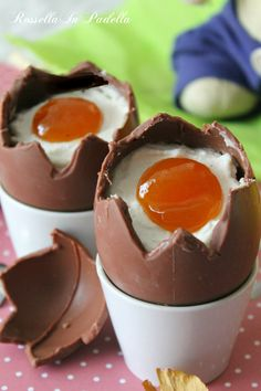 Ovetti Cheesecake ripieni - graziose uova dolci