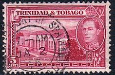Trinidad and Tobago 1938 Post Office Fine Used                    SG 249b Scott 54 Other West Indies and British Commonwealth Stamps HERE!