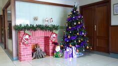 chimenea navideña de carton - Buscar con Google