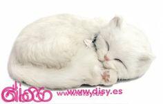 Peluche Gato Blanco - Peluches Perfect Petzzz la mascota que respira - 34,95€