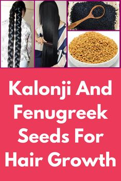 These two seeds can really do magic on your hair Extreme Hair Growth, Hair Growth Tips, Kalonji Oil For Hair, Fenugreek For Hair, Kalonji Seeds, Natural Pink Lips, Natural Hair, Hair Growth Home Remedies, Hair Pack