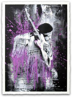 Mr. Brainwash - Jimi Purple Hze Variant - Signed