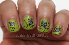 Grapes Nail Art - #grapes #nailart #nails #grapenailart #fruit #cosmeticsafionado - bellashoot.com