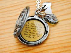 Wizard of Oz Quote Women's Locket - L. Frank Baum - The Wizard of Oz - A heart is not judged by how much you love, but by how much you are