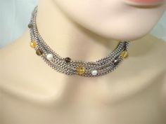 David Yurman Sterling 18K 8 Strand Multi Chain Pearl Citrine Quartz Necklace   eBay